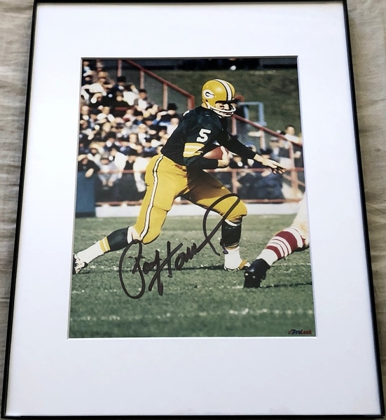 Paul Hornung autographed Green Bay Packers 8x10 photo matted and framed