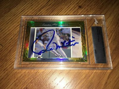 Paul Molitor 2016 Leaf Masterpiece Cut Signature certified autograph card 1/1 JSA