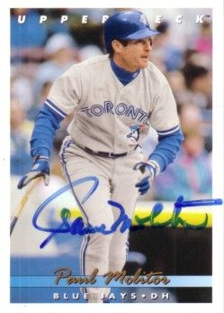 Paul Molitor autographed Toronto Blue Jays 1993 Upper Deck card