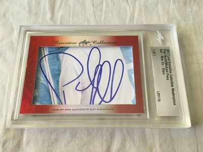 Paul Rudd and Michael Pena 2017 Leaf Masterpiece Cut Signature certified autograph card 1/1 JSA Ant-Man