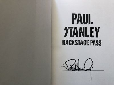 Paul Stanley autographed KISS Backstage Pass hardcover first edition book