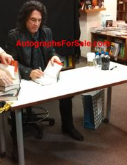 Paul Stanley autographed KISS Face the Music hardcover book