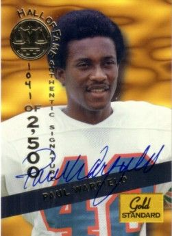 Paul Warfield certified autograph 1994 Hall of Fame Signature Rookies card