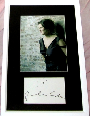 Paula Cole autograph matted and framed with 8x10 portrait photo