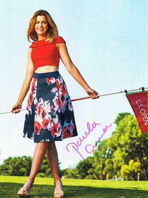 Paula Creamer autographed U.S. Open full page magazine photo