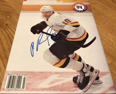 Pavel Bure autographed Vancouver Canucks 1994 Beckett Hockey magazine back cover photo