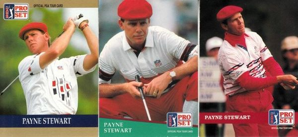 Payne Stewart set of 3 1990 1991 and 1992 Pro Set golf cards