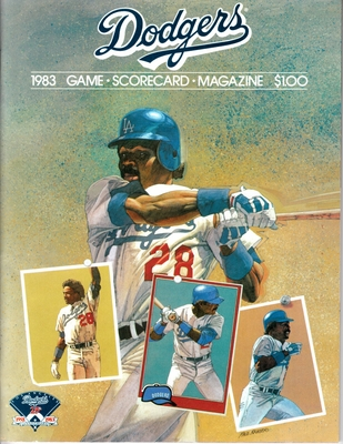 Pedro Guerrero Los Angeles Dodgers 1983 program