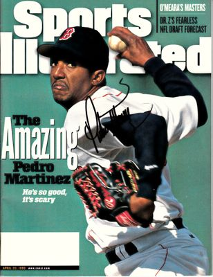 Pedro Martinez autographed Boston Red Sox 1998 Sports Illustrated