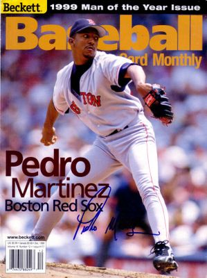 Pedro Martinez autographed Boston Red Sox 1999 Beckett Baseball cover