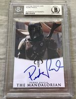 Pedro Pascal autographed The Mandalorian Star Wars card BAS authenticated and slabbed