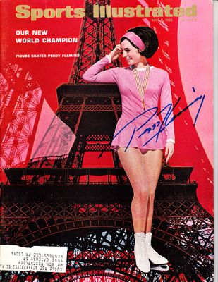 Peggy Fleming autographed 1966 World Figure Skating Championship Sports Illustrated magazine