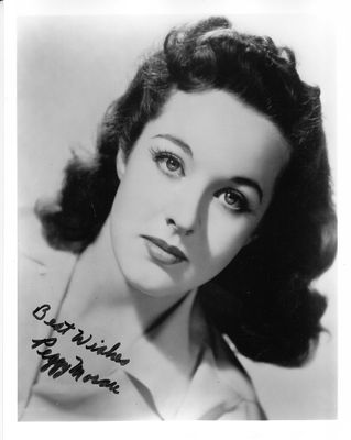 Peggy Moran autographed 8x10 black and white photo inscribed Best Wishes