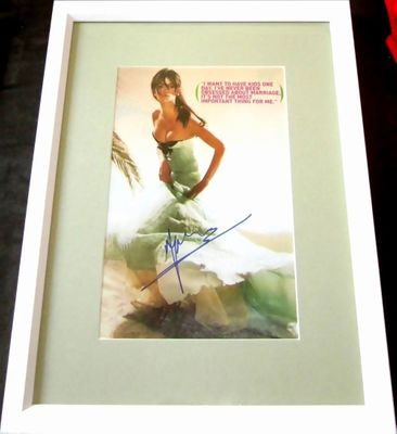 Penelope Cruz autographed full page magazine photo matted and framed