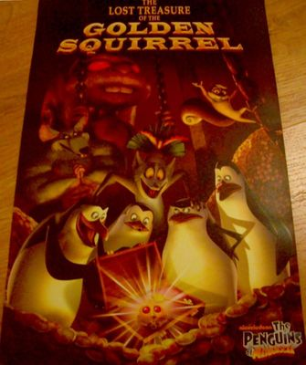 Penguins of Madagascar (Lost Treasure of the Golden Squirrel) 2010 Comic-Con promo poster