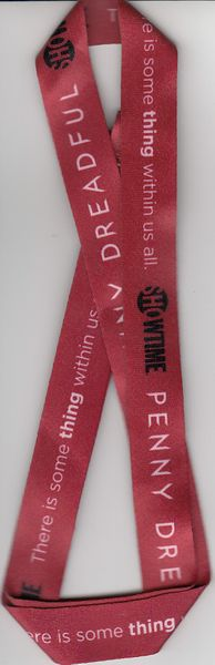 Penny Dreadful 2014 Comic-Con exclusive Showtime red fabric lanyard