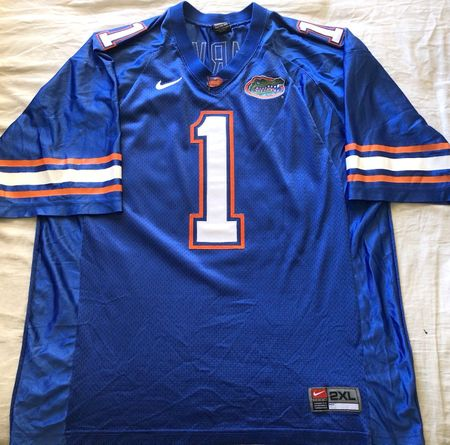 Percy Harvin Florida Gators authentic Nike stitched blue size 2XL jersey LIKE NEW