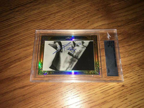 Perry Como 2015 Leaf Masterpiece Cut Signature certified autograph card 1/1 JSA