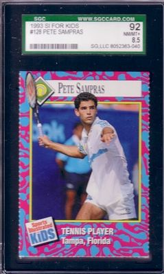 Pete Sampras 1993 Sports Illustrated for Kids card graded SGC 92 (NrMt-Mt+)
