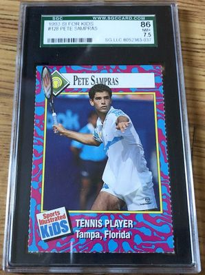 Pete Sampras 1993 Sports Illustrated for Kids card graded SGC 86 (BGS or PSA 7.5)