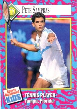 Pete Sampras 1993 Sports Illustrated for Kids card (trimmed)