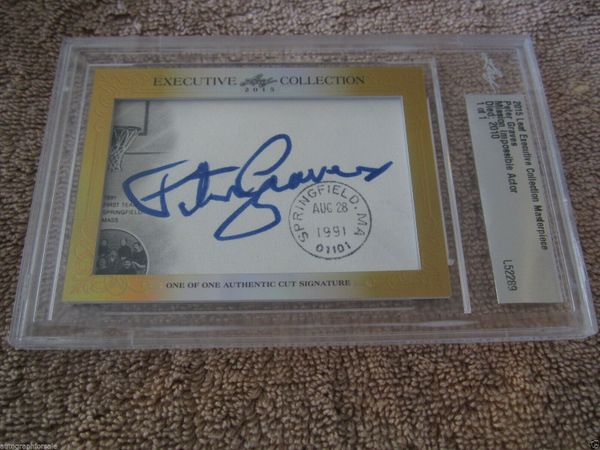 Peter Graves 2015 Leaf Masterpiece Cut Signature certified autograph card 1/1 Airplane!