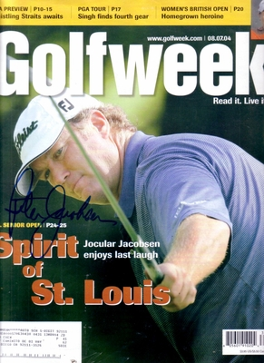Peter Jacobsen autographed 2004 GolfWeek magazine cover