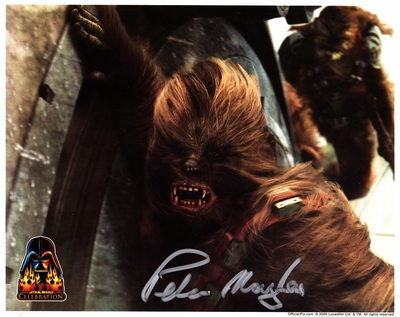 Peter Mayhew autographed Chewbacca 8x10 Star Wars photo