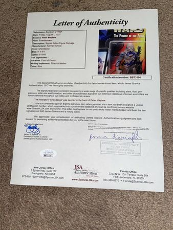 Peter Mayhew autographed Chewbacca Star Wars Kenner action figure (JSA)