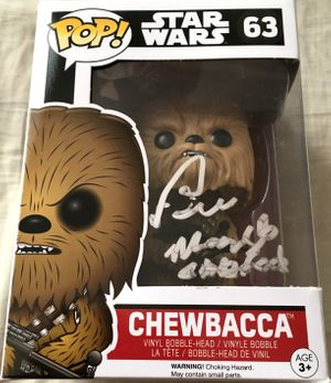 Peter Mayhew autographed Chewbacca Star Wars The Force Awakens 2015 Funko Pop