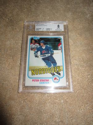 Peter Stastny 1981-82 Topps Rookie Card #39 graded BGS 8 (NrMt-Mt)