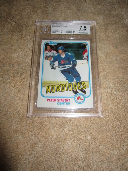 Peter Stastny 1981-82 Topps Rookie Card #39 graded BGS 7.5 (NrMt+)