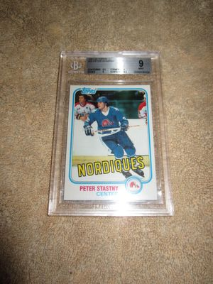 Peter Stastny 1981-82 Topps Rookie Card #39 graded BGS 9 MINT