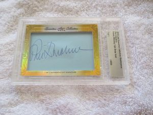 Phil Donahue 2016 Leaf Masterpiece Cut Signature certified autograph card 1/1 JSA