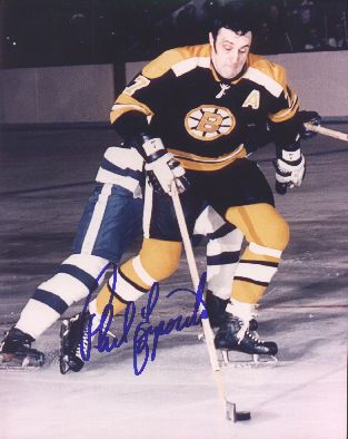 Phil Esposito autographed 8x10 Boston Bruins photo