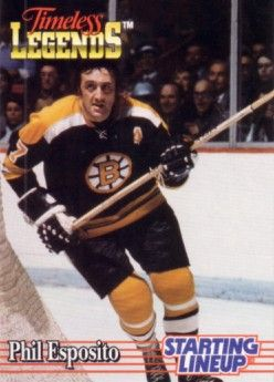 Phil Esposito Boston Bruins 1995 Kenner Starting Lineup Timeless Legends card