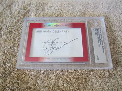 Phil Jackson and Red Auerbach 2015 Leaf Masterpiece Cut Signature certified autograph card 1/1 JSA