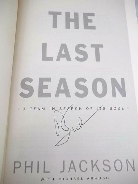 Phil Jackson autographed The Last Season hardcover book