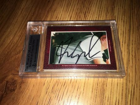 Phil Mickelson and Fred Couples 2012 Leaf Masterpiece Cut Signature certified autograph card 1/1 JSA