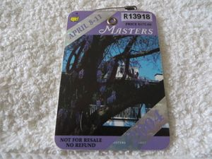Phil Mickelson autographed 2004 Masters golf badge