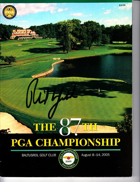 Phil Mickelson autographed 2005 PGA Championship tournament program