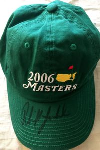 Phil Mickelson autographed 2006 Masters green golf cap or hat