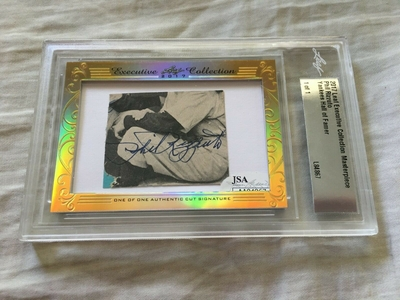 Phil Rizzuto 2017 Leaf Masterpiece Cut Signature certified autograph card 1/1 JSA