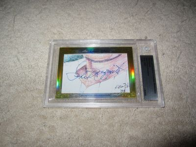 Phil Rizzuto 2014 Leaf Masterpiece Cut Signature certified autograph card 1/1 JSA