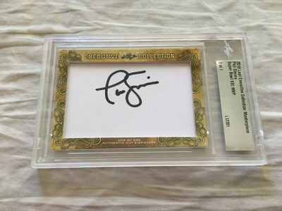 Phil Simms 2018 Leaf Masterpiece Cut Signature certified autograph card 1/1 JSA