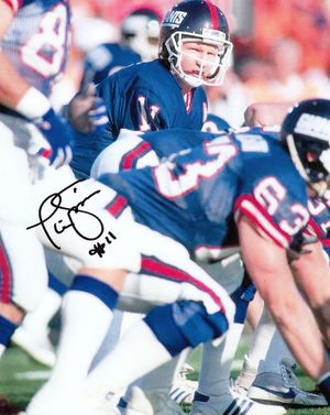Phil Simms autographed New York Giants 8x10 photo