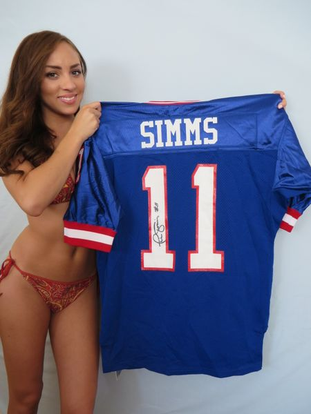 Phil Simms autographed New York Giants authentic game model throwback jersey (Total Sports Concepts)
