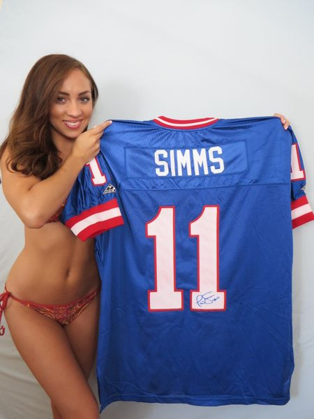 Phil Simms autographed New York Giants authentic Apex stitched game model throwback jersey