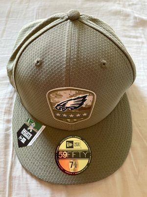 Philadelphia Eagles 2019 Salute to Service New Era game model fitted cap or hat NEW