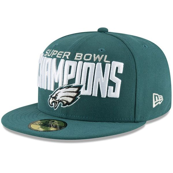 Philadelphia Eagles Super Bowl 52 Champions New Era green fitted cap or hat NEW